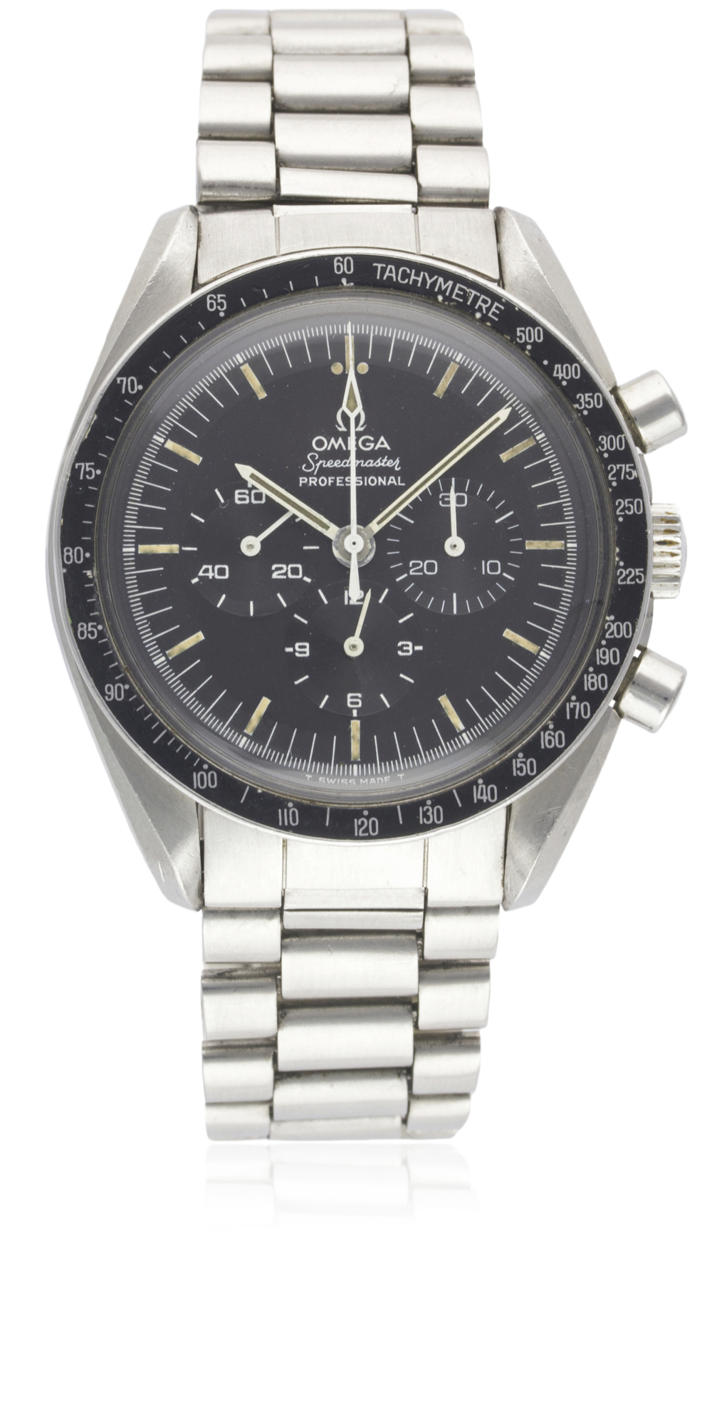 Lot 184 - A GENTLEMAN'S STAINLESS STEEL OMEGA SPEEDMASTER PROFESSIONAL CHRONOGRAPH BRACELET WATCH CIRCA