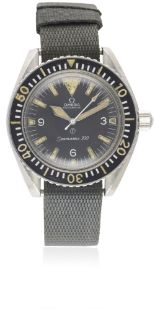 "Lot 177 - A RARE GENTLEMAN'S STAINLESS STEEL BRITISH MILITARY OMEGA SEAMASTER 300 ""BIG TRIANGLE"" ROYAL NAVY"