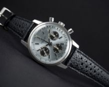 """A RARE GENTLEMAN'S STAINLESS STEEL BREITLING """"LONG PLAYING"""" CHRONOGRAPH WRIST WATCH CIRCA 1974, REF."""