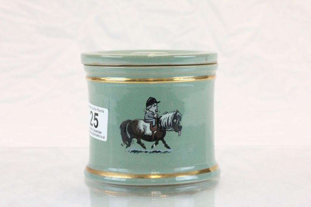 Lot 25 - ' Thelwell ' Denby Jar and Lid