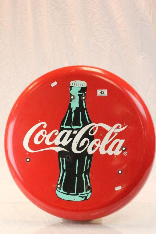 Lot 42 - A Coca-Cola neon wall display (no neon tubes)