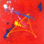 Chris BILLINGTON (b.1955), Acrylic on canvas, 'Fire of Transformation', Inscribed, signed & dated