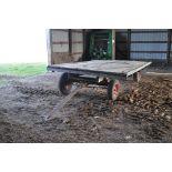 14' Flat rack wagon, wood floor, New Idea gear