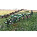John Deere 2700 moldboard 5 bottom plow, variable width, toggle trip, SN 013021A