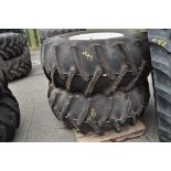 Set of four 23.1-30 floatation tires and rims