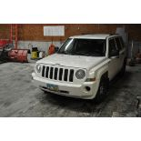2008 Jeep Patriot, 4x4, auto, white, power windows, power door locks, 2.4 liter, 165,320 mi.