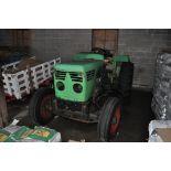 Deutz Allis D-04006A tractor, diesel, 3-pt, PTO, 13.6-28 rear tires, shows 3,320 hrs.