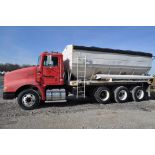 1998 International 9100 w/ Ray-Man 18-ton 3-compartment fertilizer bed, side discharge, 32,000