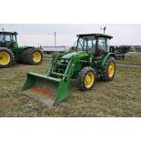 2013 John Deere 5075 M tractor, MFWD, 16.9-30 rear, 11.2-24 front, power reverser, 2 hyd