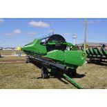 2012 40' John Deere 640 FD HydraFlex Draper Head, stubble lights, less than 3,000 acres, SN