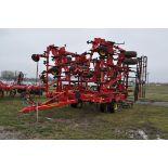 49' Sunflower 5056 field cultivator, dble hyd fold, walking tandem, front gauge wheels, 3-bar harrow
