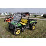 John Deere 855D Gator, power steering, 55.6 hrs, electric lift bed, brush guard pkg, windshield,