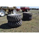 Set of 4 Floater Tires for Rogator 854, 10 bolt hole 23.1-26