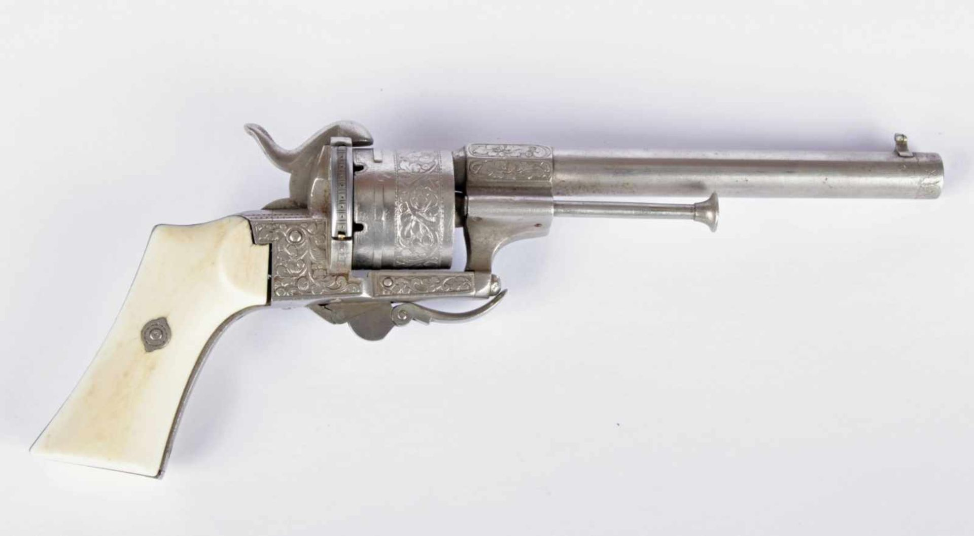 Revolver E. Lefaucheux, Brevete France, Paris, circa 1860, revolver marked E. LEFAUCHEUX / INVR