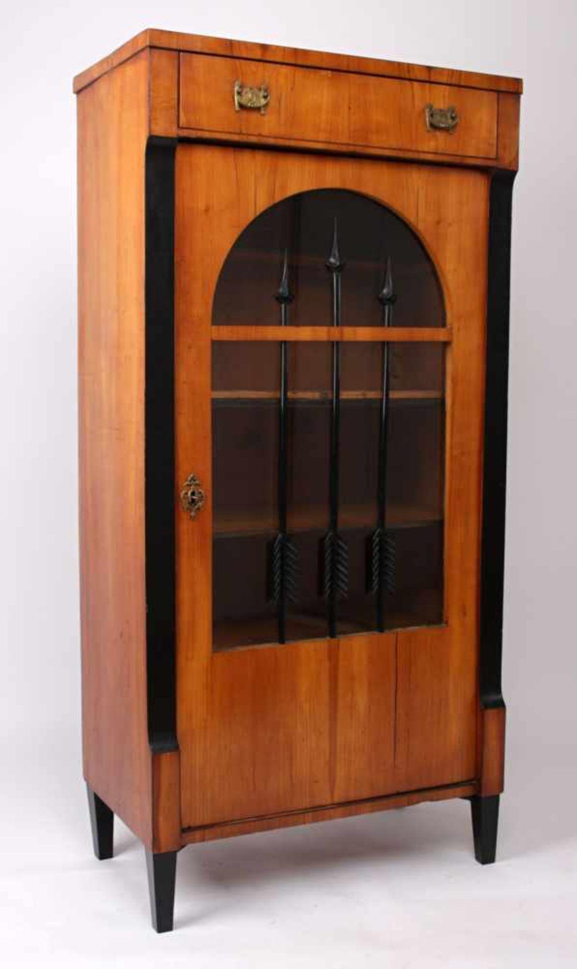 Los 42 - Biedermeier bookcase Middle Europe, 1st half of the 19th century, small Biedermeier bookcase, cherry