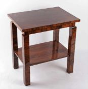 Art Deco table Bohemia, 20 - 30 years of the 20th century, table with squared legs, rectangle