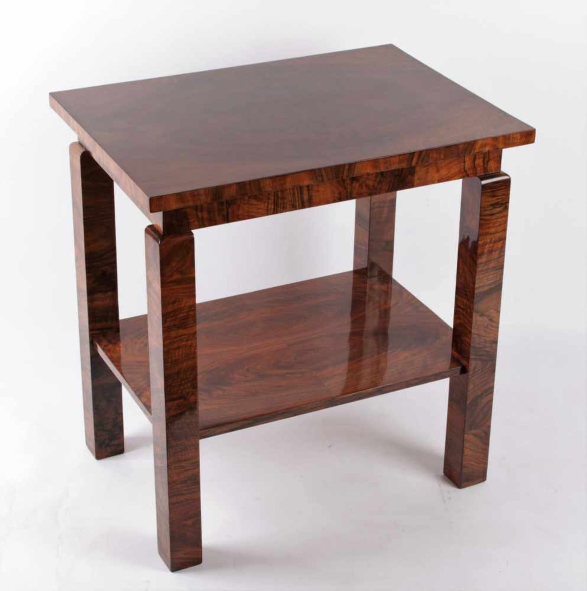 Los 35 - Art Deco table Bohemia, 20 - 30 years of the 20th century, table with squared legs, rectangle