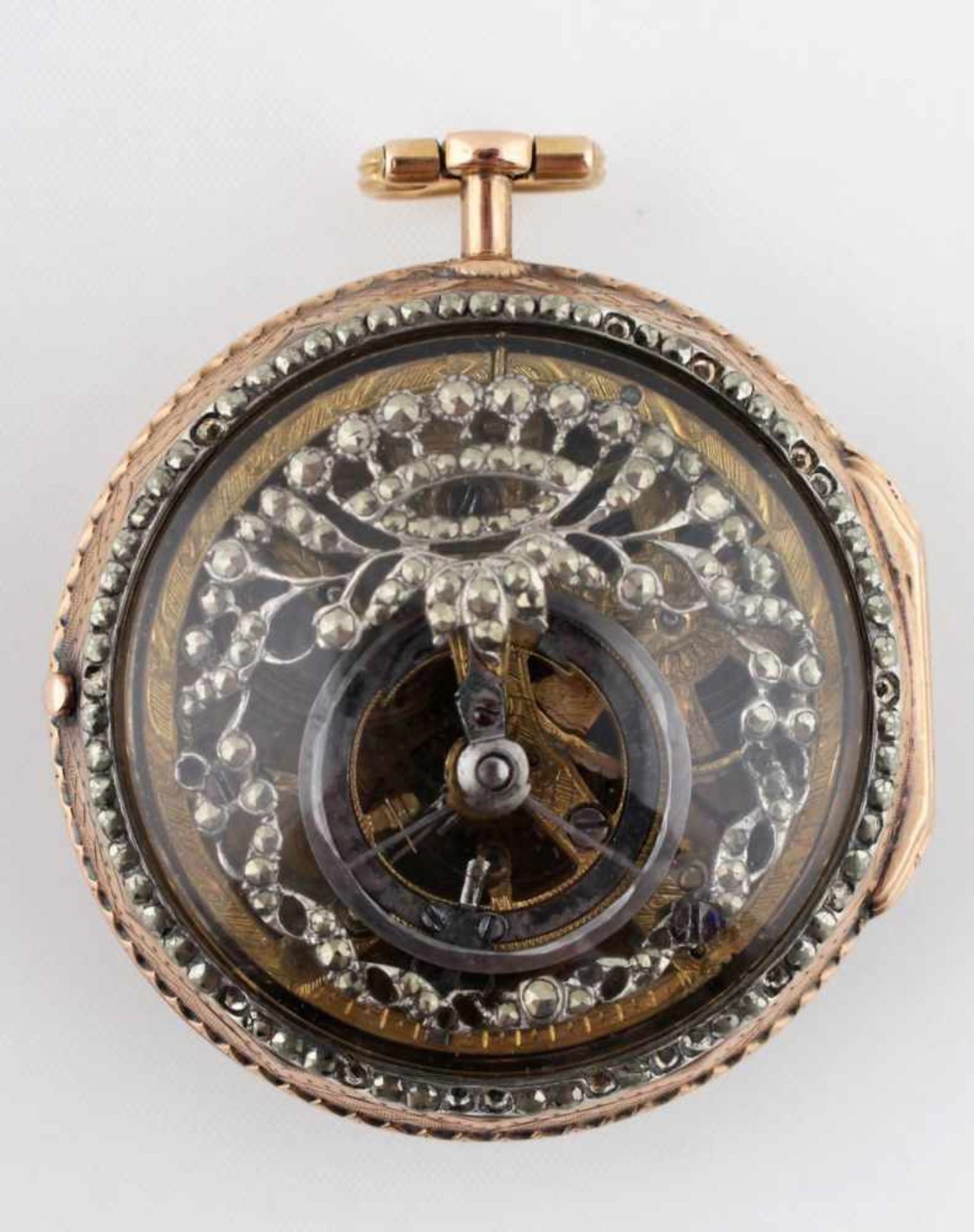 Gold pocket watch First half of the 19th century, pocket watch, gold case Au 720/1000 with silver,