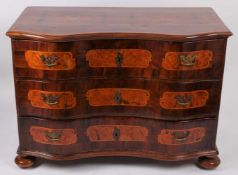 Baroque chest of drawers Middle Europe, 2nd half of the 18th century, 3 drawer chest of drawers on