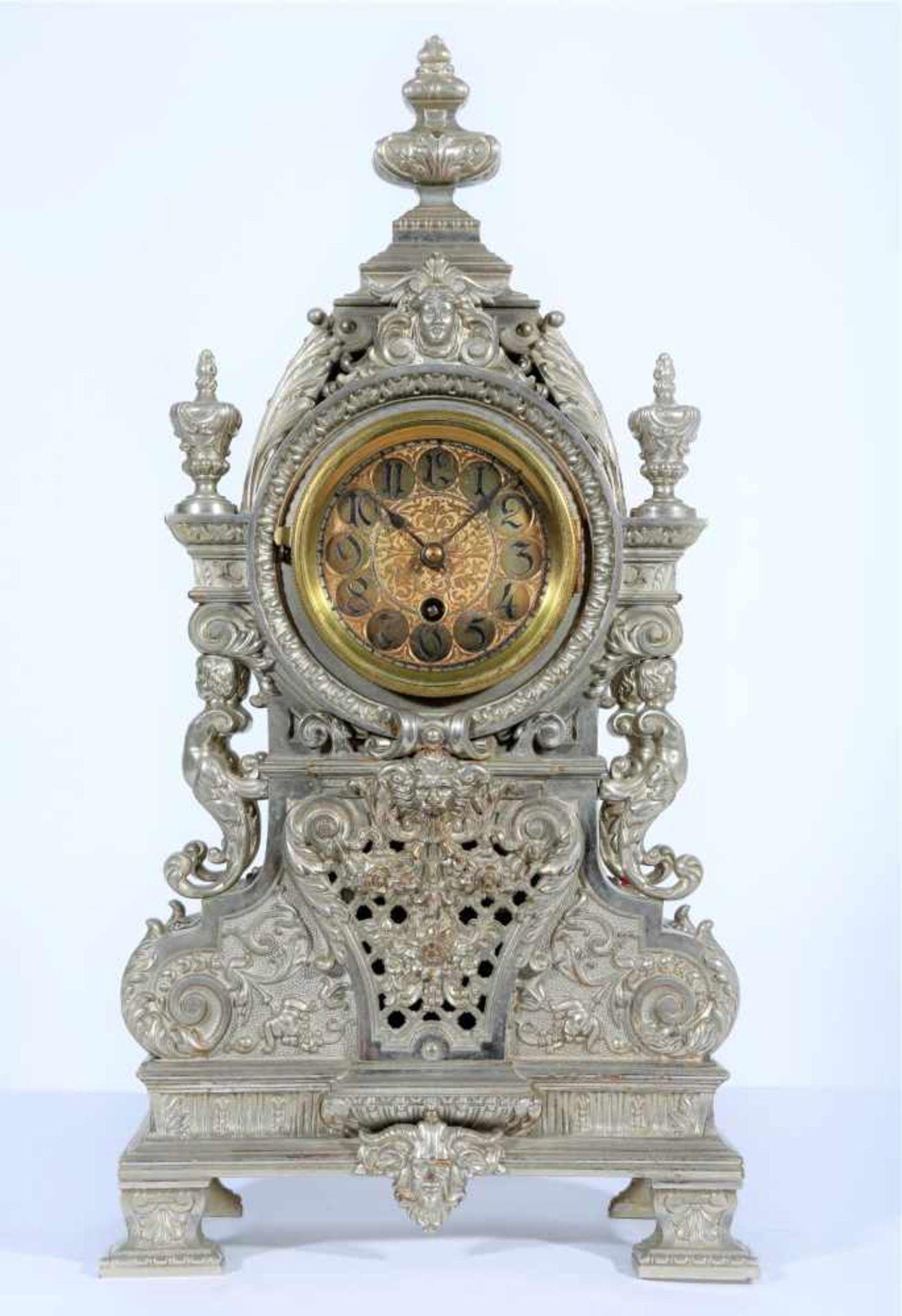 Los 29 - Table Clock - Friedland Austria-Hungary, late 19th century, case art of nickel-iron, marked