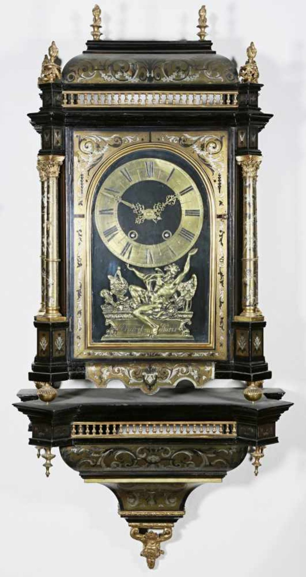 Los 25 - French console clock Thuret Paris France, Paris, end of 18th century/early 19th century, dial