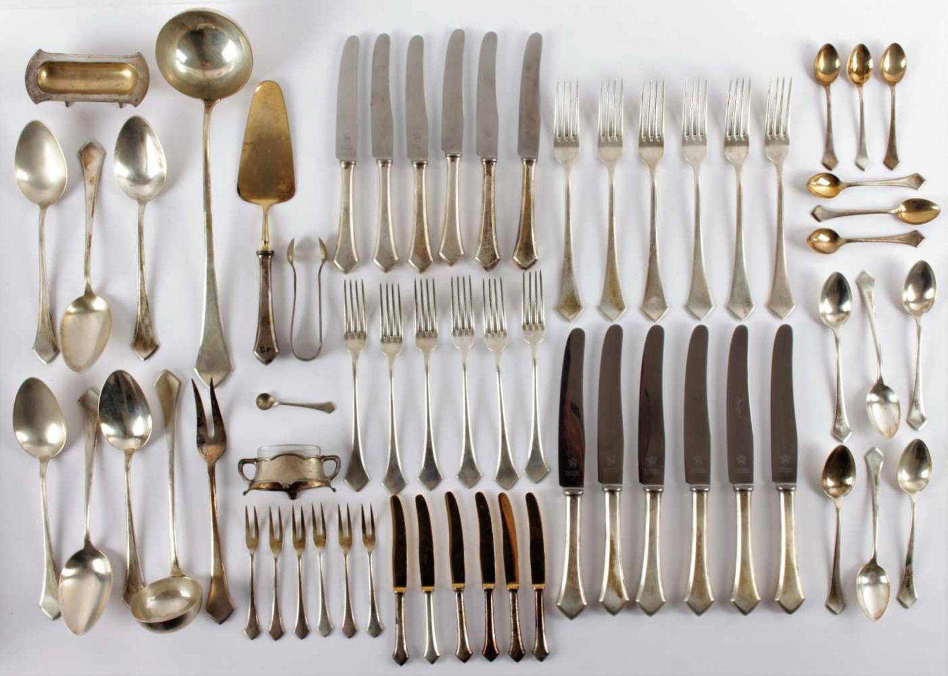 Los 56 - Bibus Frantisek - silver cutlery Czechoslovakia, Moravska Trebova, made by the Bibus firm, after