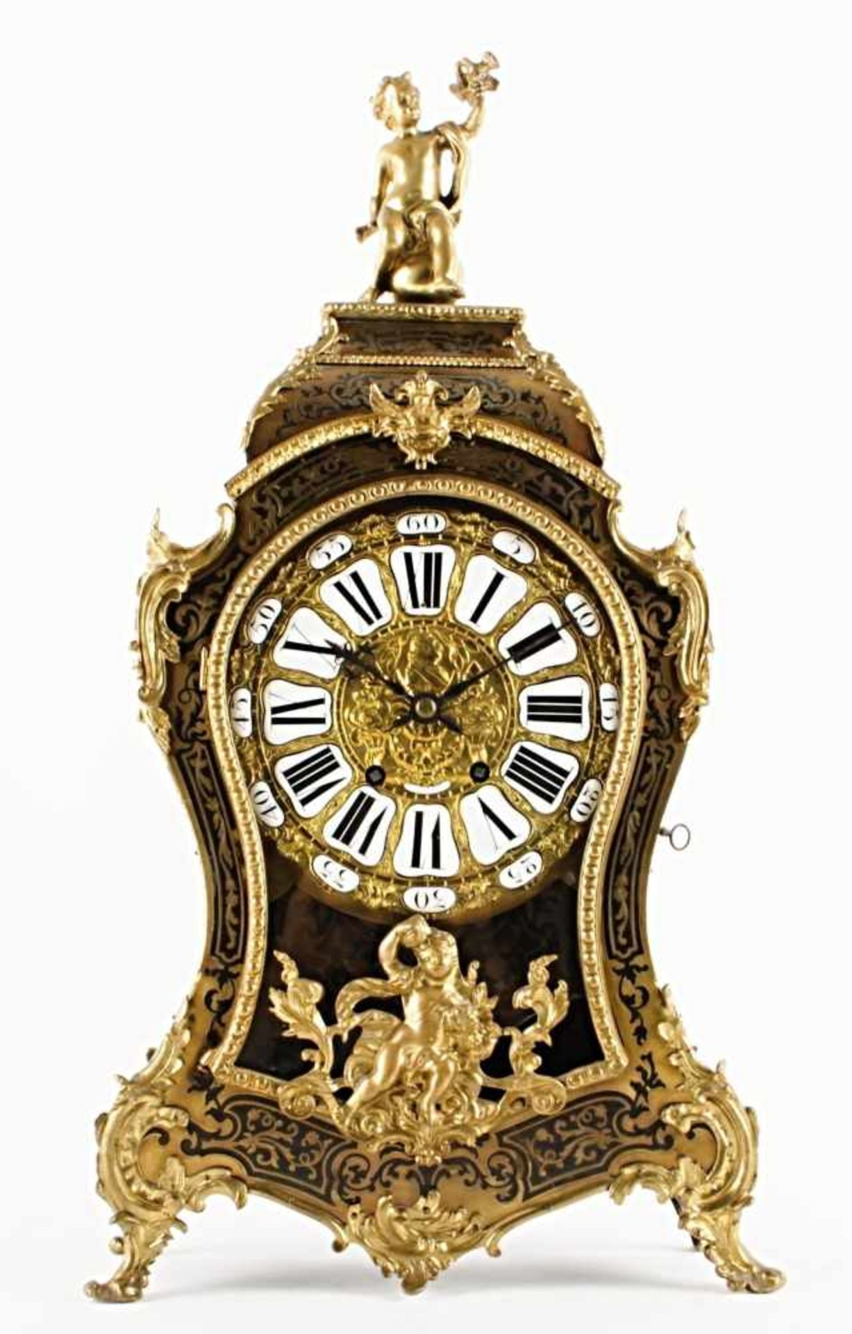 Los 28 - French table clock – Raingo Freres France, Paris, 2nd half of the 19th century, relief gold plated