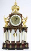 Austrian Empire automaton clock Austria, Vienna, cca 1810, gilded and blackened bronze, anchor
