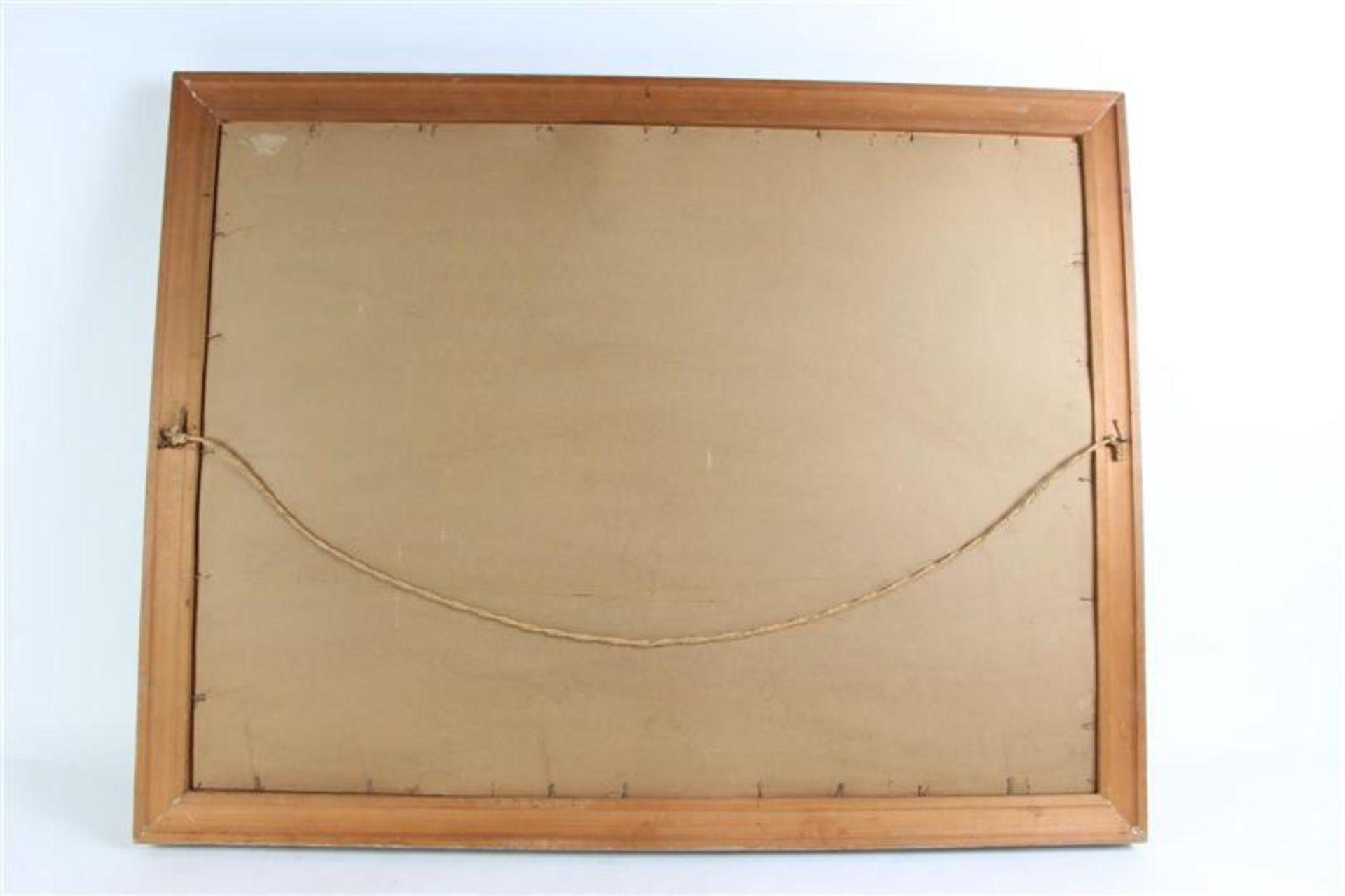 Los 2 - Gemengde techniek op papier 'Vissersboten in de haven'. Theo Idserda (1915-1992) HxB: 65.5 x 87.5