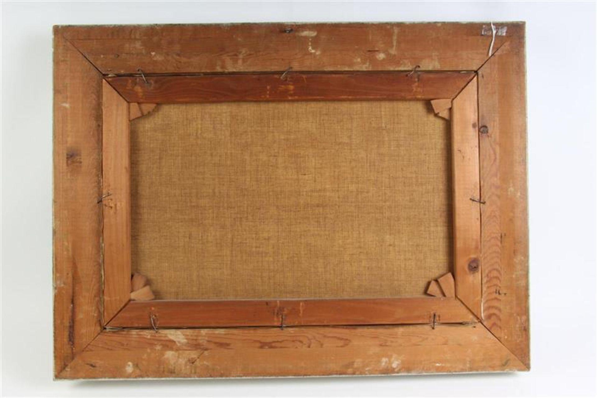Schilderij, olieverf op doek, 'Koeien aan de waterkant'. C Verschuur ( Cor Bouter) (1888-1966) - Bild 3 aus 3