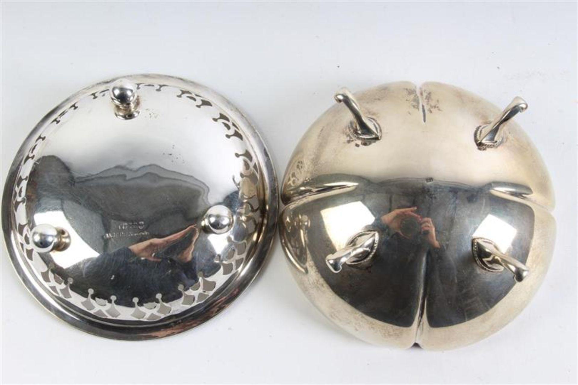 Set van vijf diverse mandjes, waaronder zilver Hollands gekeurd. Gewicht: 396 g. - Bild 3 aus 6