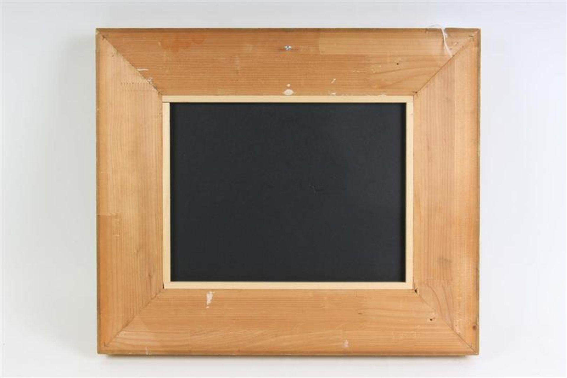 Schilderij, olieverf op board, 'Vennetje'. J. Sax (1899-1977) HxB: 25.5 x 33.5 cm. - Bild 4 aus 4