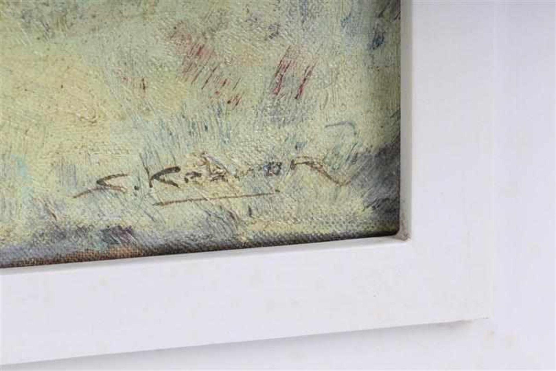 Schilderij, olieverf op doek 'Strandgezicht'. Simon Kramer (1880-1957) HxB: 49.3 x 79.3 cm. - Bild 2 aus 3
