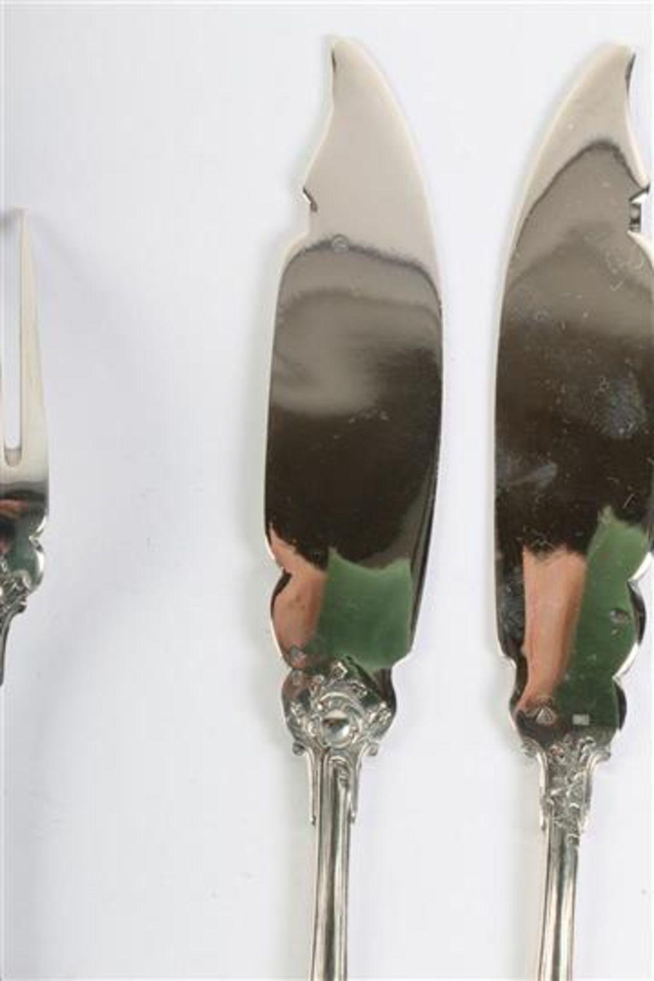 Zes viscouverts, gemerkt 800, Wolfers Brussel. Gewicht: 690 g. - Bild 6 aus 8