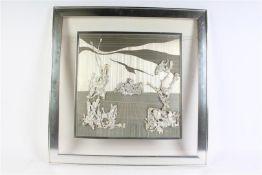 Modern werk, afkomstig uit Amerika, gesigneerd YMAZ. HxB: 77.5 x 67.5 cm.(totaal)