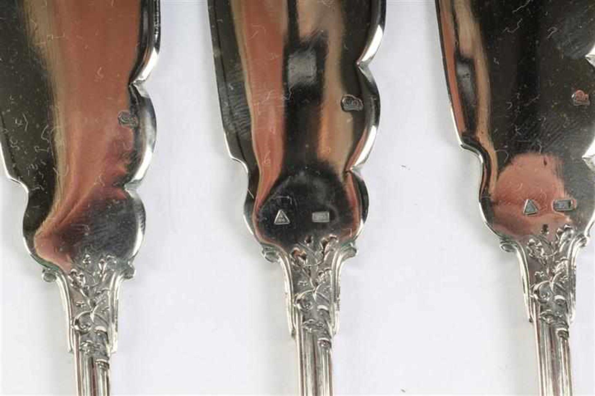 Zes viscouverts, gemerkt 800, Wolfers Brussel. Gewicht: 690 g. - Bild 3 aus 8