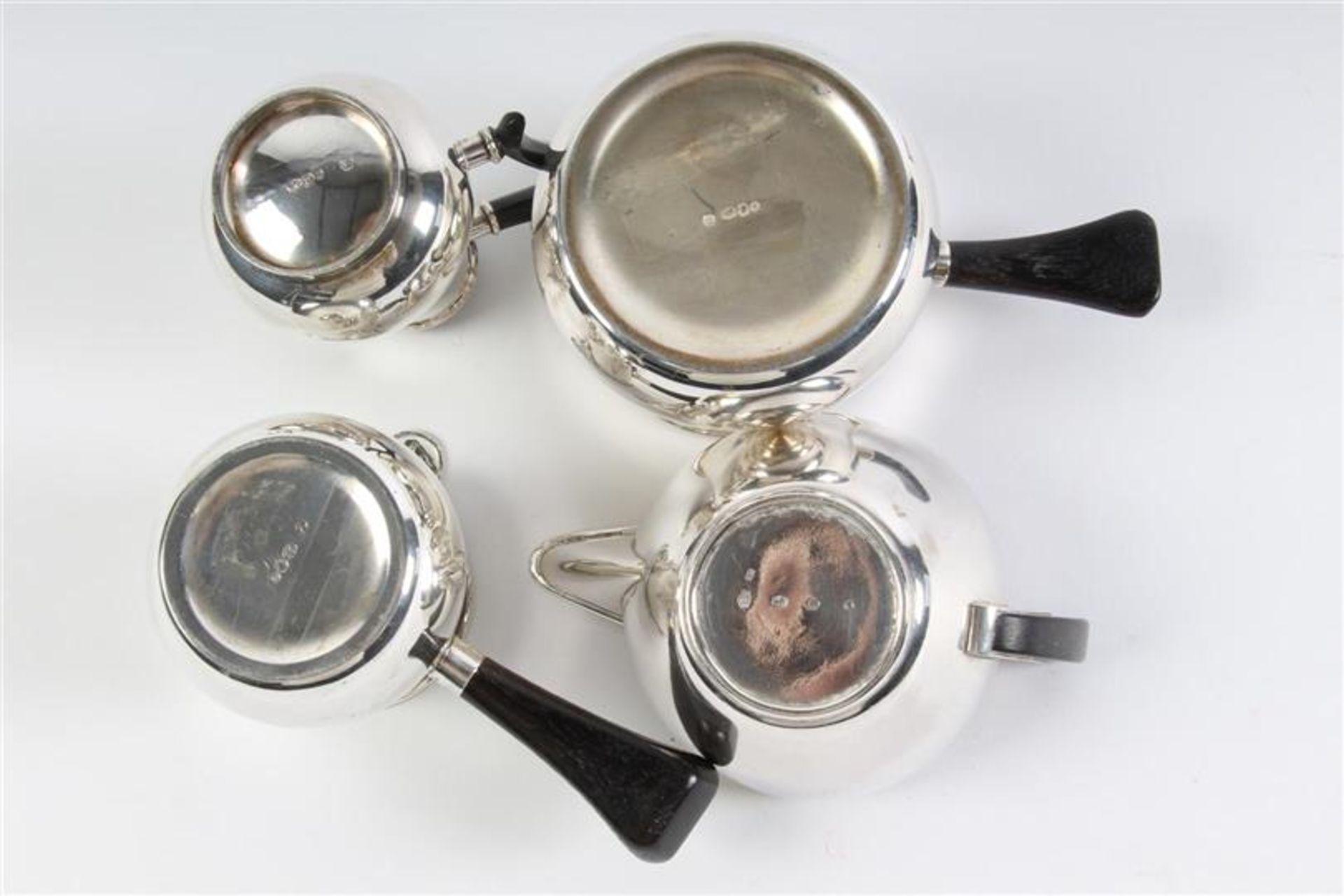 Vier zilveren mokka- en roomkannetjes, Holland, 20e eeuw. - Bild 3 aus 3