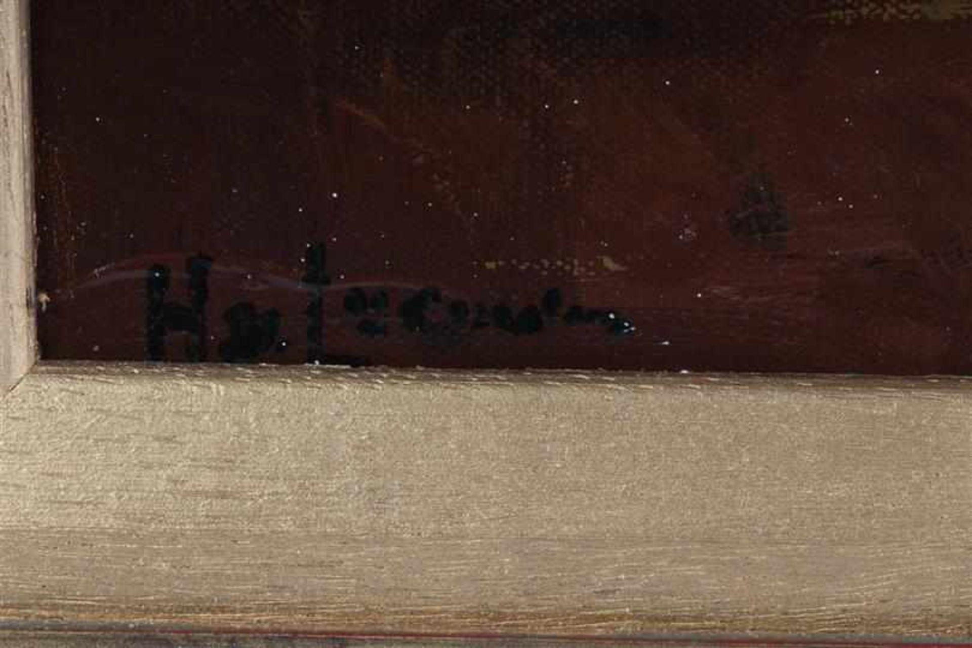 Schilderij, olieverf op doek, 'Interieur'. Henk van Leeuwen (1890-1972) HxB: 50 x 40 cm. - Bild 3 aus 4