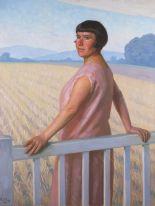 Auktionslos 4421 - Türoff, Paul: Großes Damenbildnis. Öl/Leinwand, links unten signiert/datiert: 1927, verso Reste