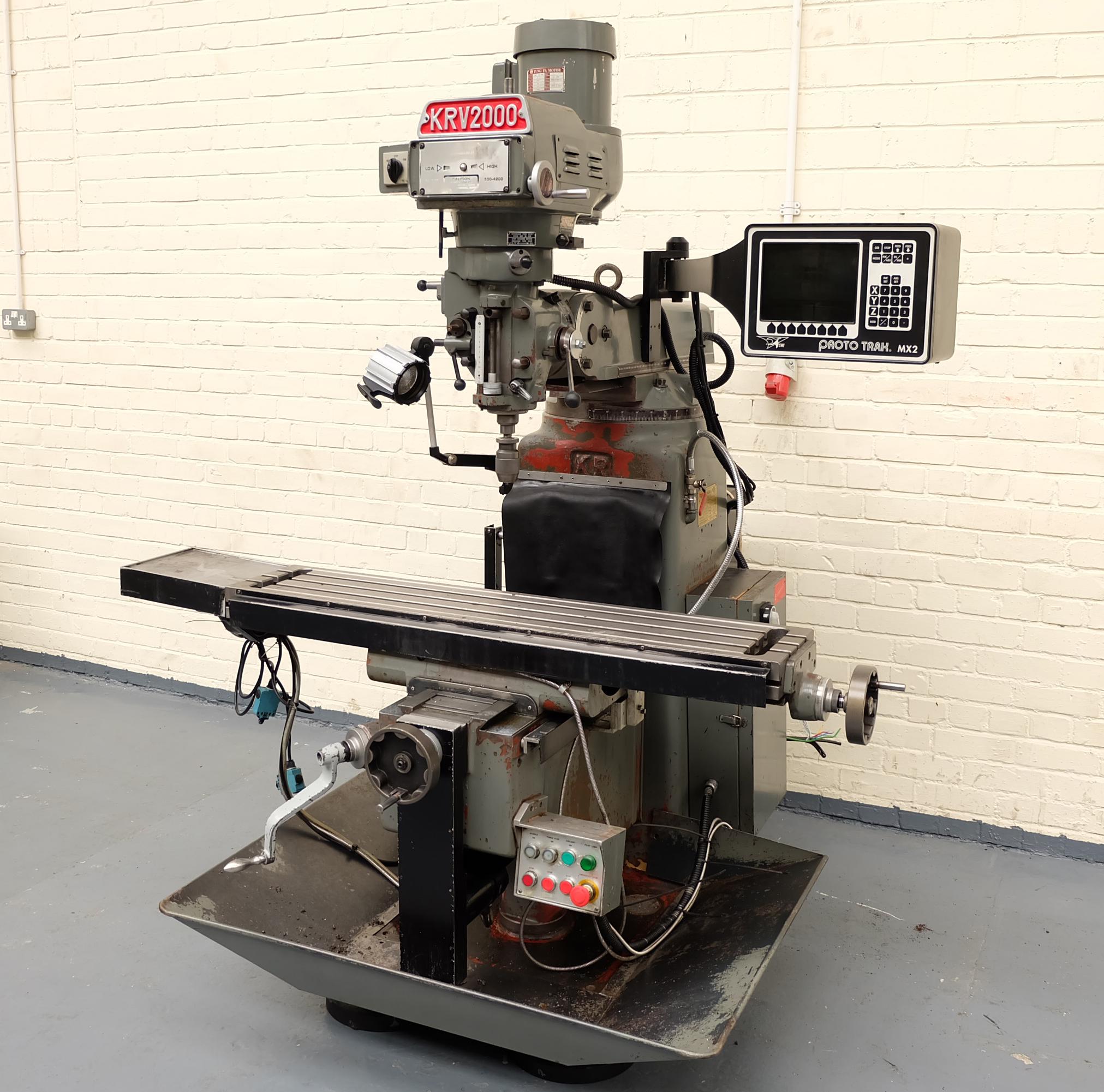 a king rich krv 2000 turret mill prototrak mx2 control table size rh bidspotter co uk