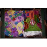 Box of Assorted Linen and Cloth