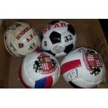 4 Signed Match Day Footballs Sunderland AFC & Newcastle United
