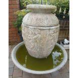 Garden Water Fountain (Includes Pump)