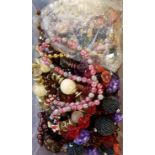 Box of Costume Jewellery Necklaces (approx 40)