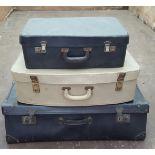 3 x Vintage Suitcases No Reserve