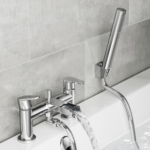 Lot 17 J13 Cela Waterfall Bath Shower Mixer Tap With Hand Held