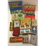 Vintage Retro Parcel of Collectable Playing Cards Games & View Screen Slides