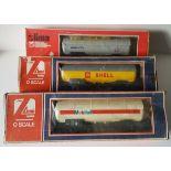 Vintage Retro Model Trains 3 x Lima O Guage Rolling Stock Boxed