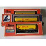 Vintage Retro Model Trains 2 x Lima 1 x Wren Lima O Guage Rolling Stock Boxed