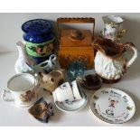 Vintage Retro Parcel Ceramics Boxes & Glass NO RESERVE